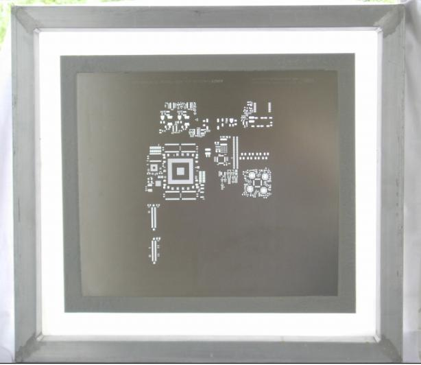 Chemical-etch stencil--Framed